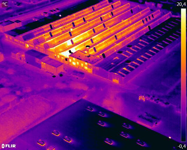 Inspection thermique de toiture