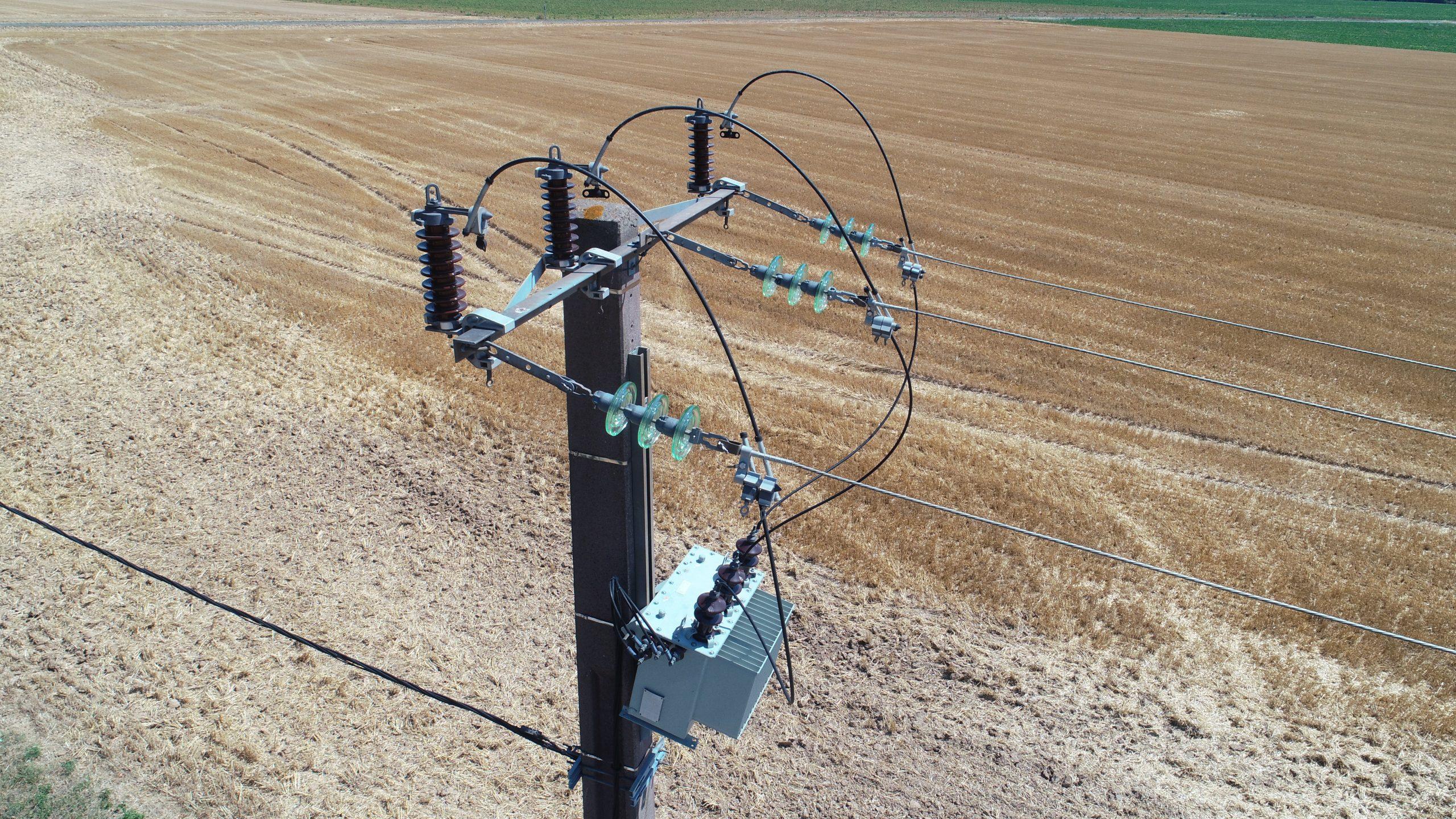 Inspection de pylône électrique