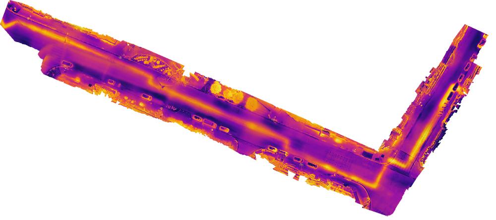 Réalisation d'orthophotographies de réseaux de chaleur